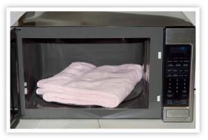 microwave a towel