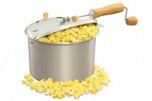 popcorn on the stove